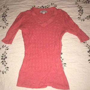 Merona pink short-sleeve sweater